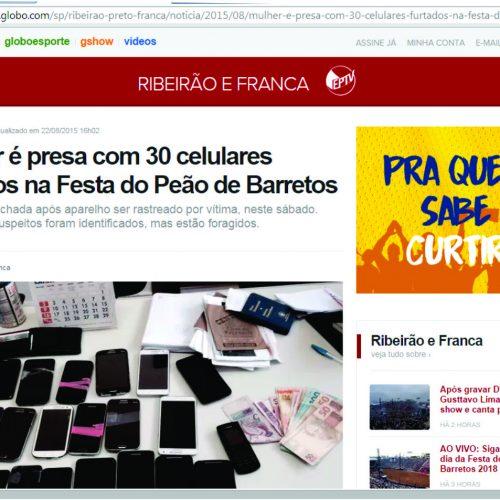 BOATO: Mulher é presa com 30 celulares furtados na Festa do Peão de Barretos