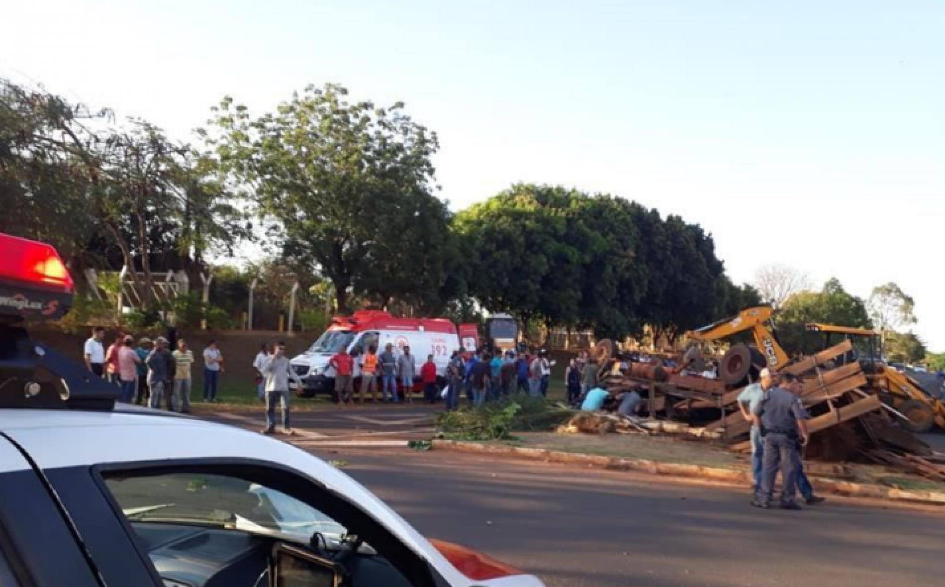 GUARACI: Motorista sai ileso de grave acidente com caminhão na Curva da Galinha