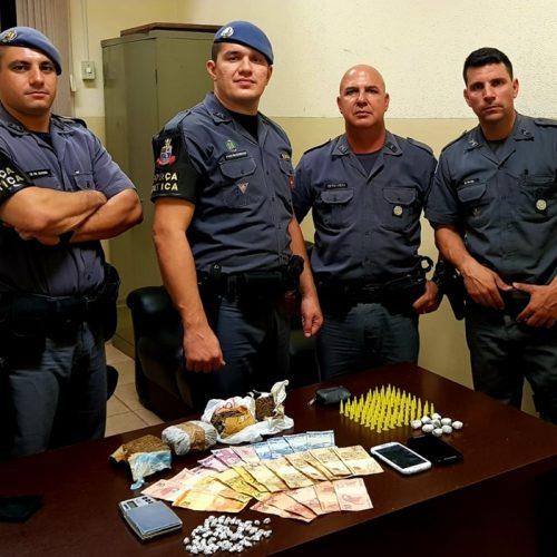 OLÍMPIA: Policia Militar prende desemprego com drogas