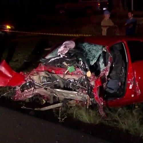 REGIÃO: Idosa morre em acidente com quatro veículos na BR-153