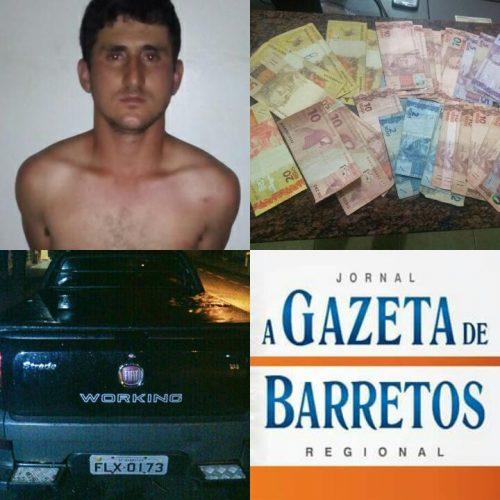 OLÍMPIA: Comerciante barretense é preso após roubar posto de combustíveis e trocar tiros com a polícia
