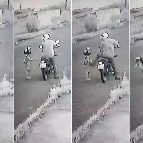 REGIÃO: Padrasto agride menino de 4 anos com chute no peito no meio da rua