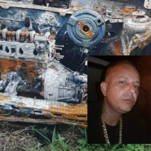 REGIÃO: Carro de homem desaparecido é encontrado carbonizado pela polícia