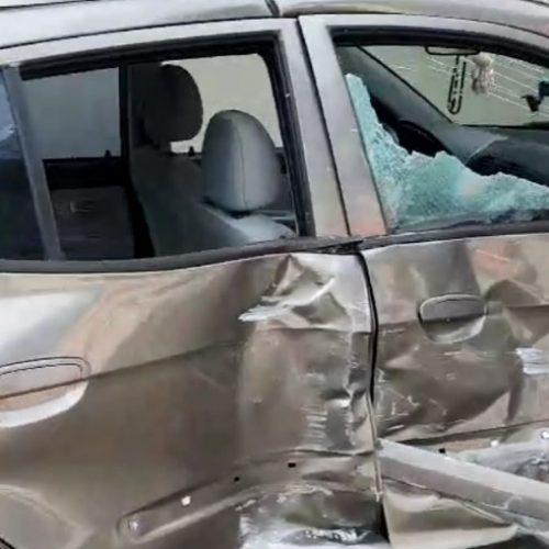 REGIÃO: Motorista avança pare e acaba atingida por ônibus