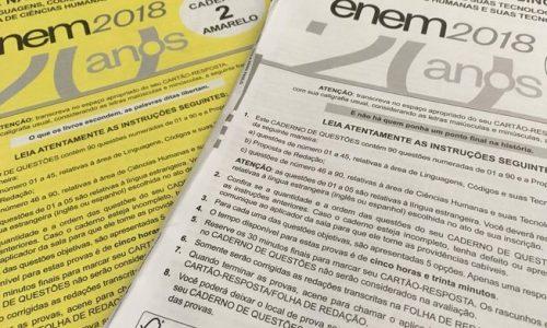 ENEM 2018: Gabarito oficial sai na quarta (14)
