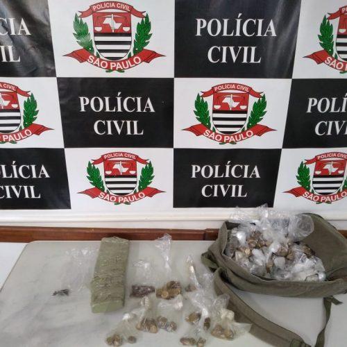 BARRETOS: Policia Civil prende mulher, apreende quase um quilo de maconha e homem com participações nos roubos a pastelaria e Terminal Integração é preso