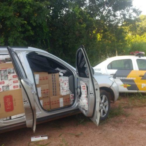 REGIÃO: Polícia apreende carga de cigarros contrabandeados em rodovia