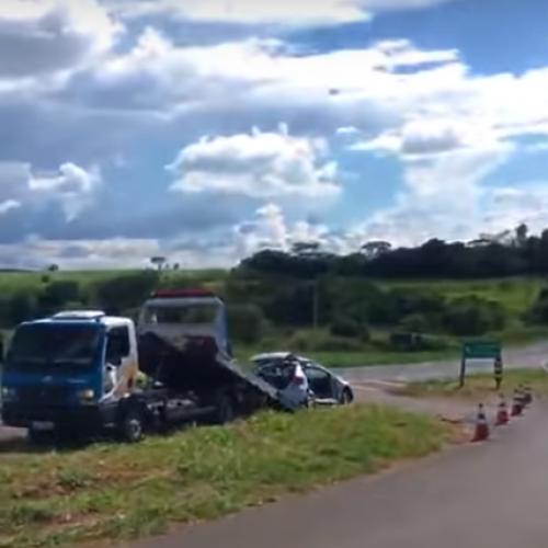 OLÍMPIA: Idosa morre após carro ser atingido por caminhão em rodovia