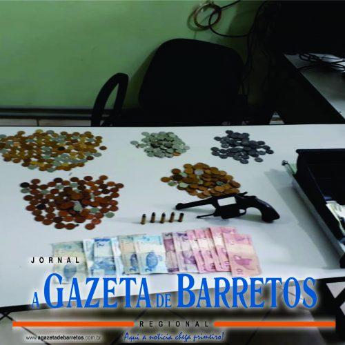 BARRETOS: Polícia Militar prende maior e apreende menor que roubaram estabelecimento comercial e atiraram contra testemunha