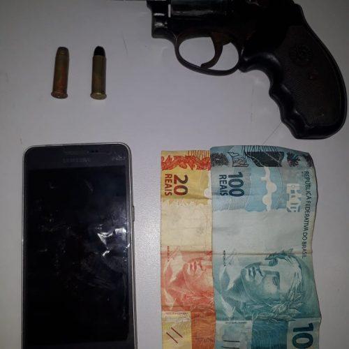 BARRETOS: Equipe do Canil detém menor com arma, munição e dinheiro