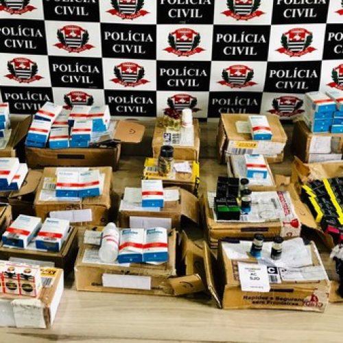 REGIÃO: Polícia fecha 'distribuidora' que vendia anabolizantes pela internet e prende dois suspeitos