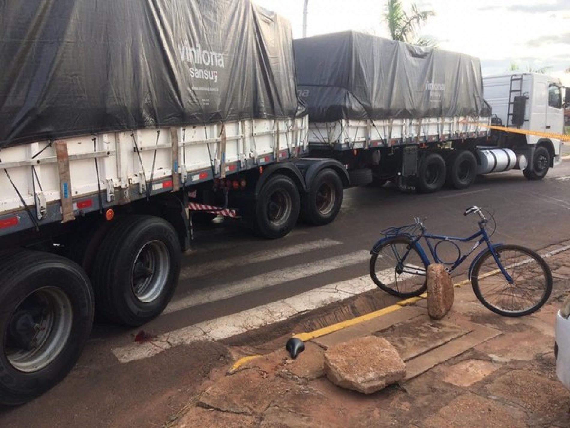 REGIÃO: Menina de 4 anos morreu atropelada por carreta
