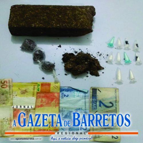 BARRETOS: Após tentativa de fuga, três homens são presos por tráfico de drogas na Avenida 41