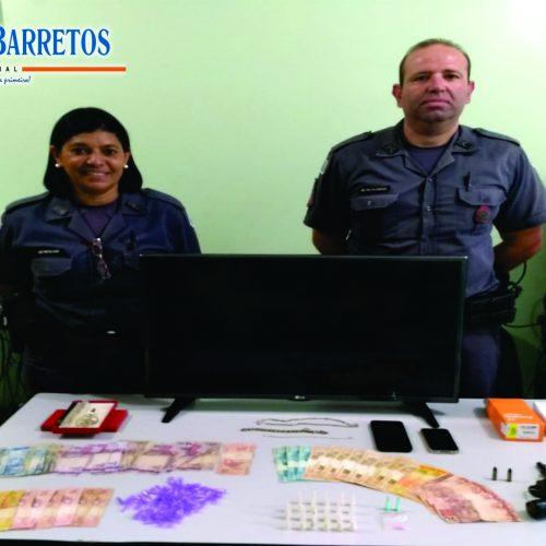 BARRETOS: Policia apreende menor com revólver, dinheiro, televisão, celulares, drogas e diversos outros objetos
