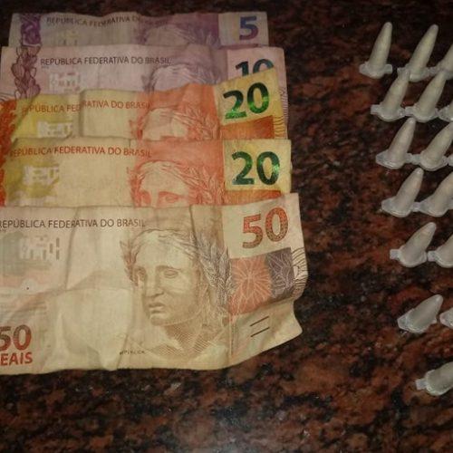 SEVERÍNIA: Traficante conhecido, flagrado pela PM e GCM próximo a um Forró com o bolso cheio
