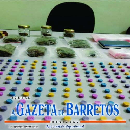 BARRETOS: Força Tática prende homem e apreende ecstasy, haxixe, maconha e uma porção de droga conhecida como cristal