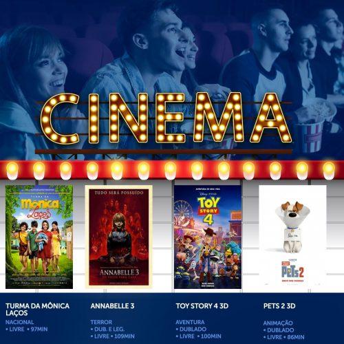 BARRETOS: Turma da Mônica – Laços, Annabelle 3 e Pets 2 se juntam a Toy Story 4 na programação de pré-férias do Centerplex North Shopping