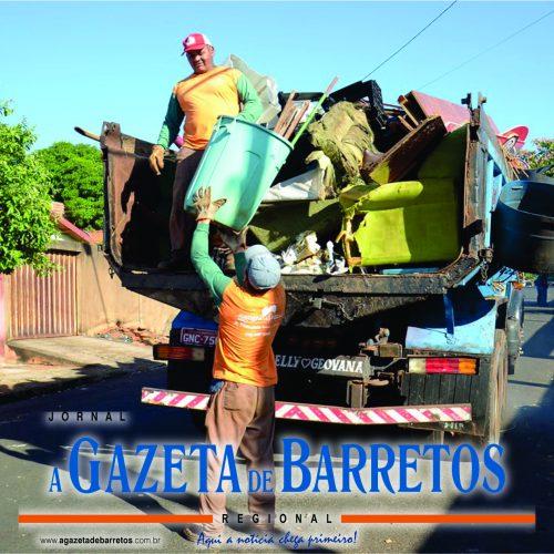 BARRETOS: Operação Dia do Bota Fora retira 30 caminhões de resíduos das casas do Leda Amêndola