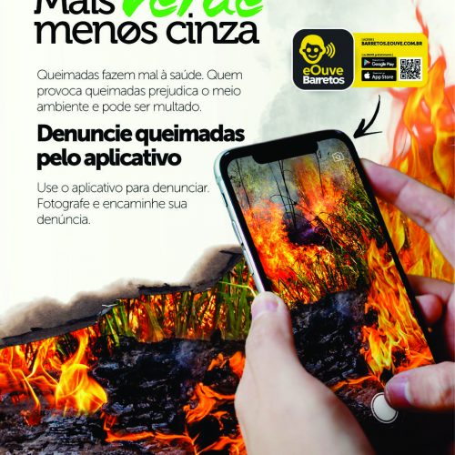BARRETOS: Denúncias sobre queimadas podem ser feitas via aplicativo da Prefeitura