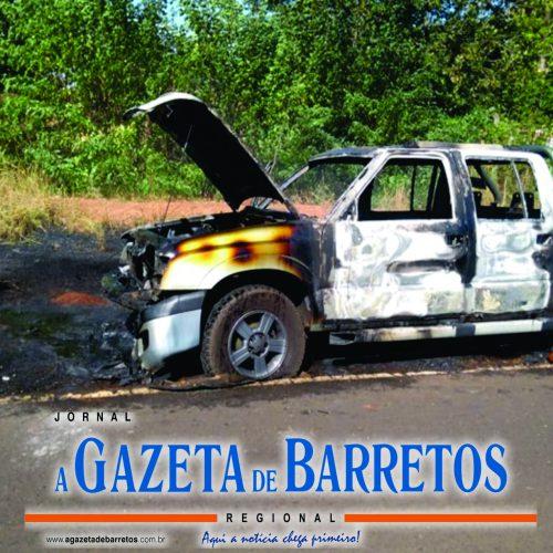 OLÍMPIA: Idoso tenta apagar fogo em vicinal e caminhonete é incendiada