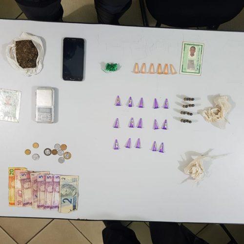 BARRETOS: Operação da Policia Militar prende três por tráfico e apreende drogas, dinheiro e munição no Luís Spina