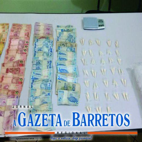 BARRETOS: Equipes Especializadas  da Policia Militar prende  traficante no bairro Zequinha Amêndola