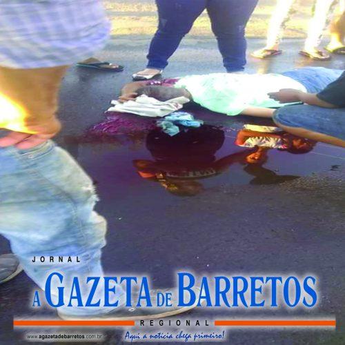 BARRETOS: Motociclista fica gravemente ferido em acidente na entrada do bairro do Sta. Cecilia