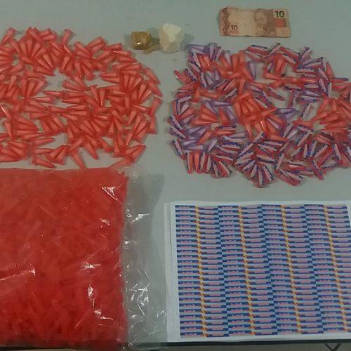 BARRETOS: Operação Policial prende entregador e apreende mais de meio quilo de drogas no bairro Luís Spina