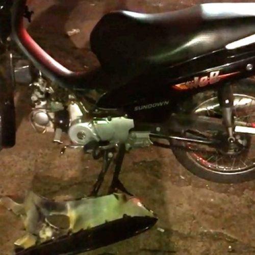 REGIÃO: Colisão entre motos deixa homem com grave ferimento na cabeça