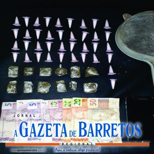 BARRETOS: Foragido da cadeia de Minas Gerais e menor de idade são presos por tráfico de drogas no Conjunto Newton Siqueira Sopa
