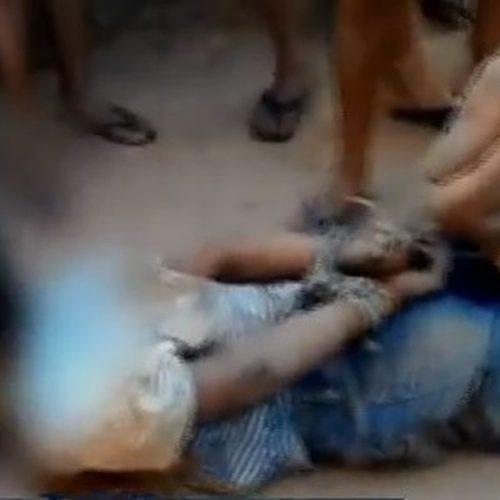 Adolescente suspeito de estupro é amarrado pela população e detido por policiais no Ceará
