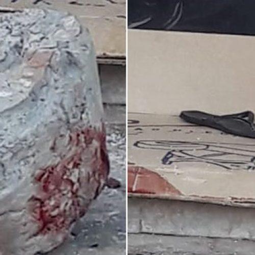 REGIÃO: Morador de rua é achado morto ao lado de bloco com marcas de sangue