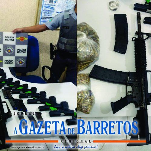 Policia Rodoviária prende casal com dezenas de armas de uso restrito, centenas de munições e maconha na Rodovia Faria Lima