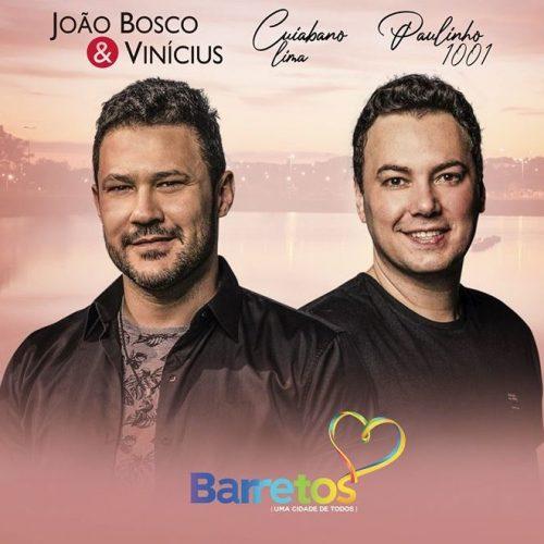 BARRETOS: Show de João Bosco & Vinícius na Região dos Lagos na Virada de 2020