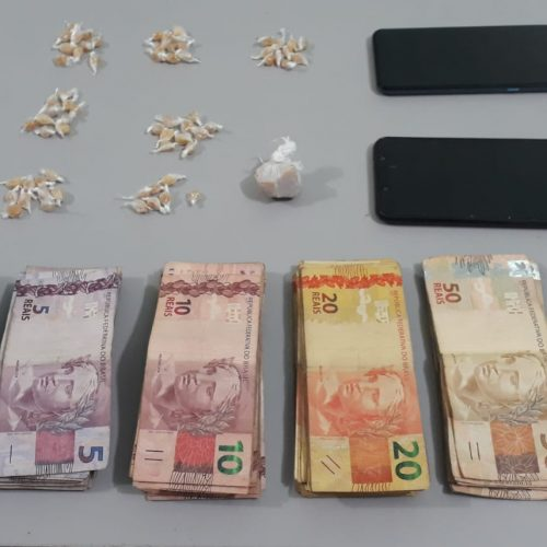 BARRETOS: Homem é preso com crack, celulares e mais de 4 mil reais no Jardim Caiçara
