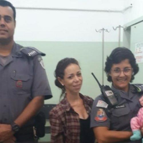 REGIÃO: PM salva bebê de apenas 18 dias engasgado