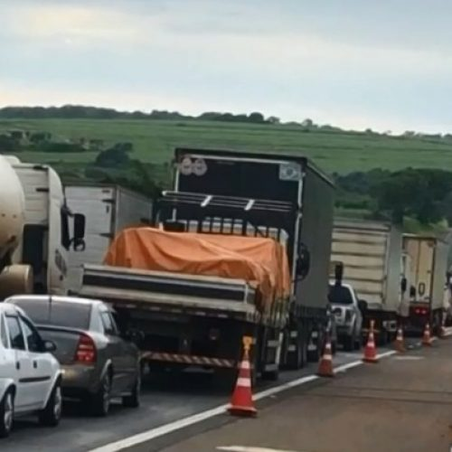 REGIÃO: Rodovia Washington Luís fica interditada após pista afundar por causa da chuva