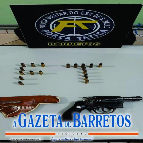 BARRETOS: Policia apreende arma que pode  estar envolvida em casos de tiroteio no bairro Zequinha Amêndola