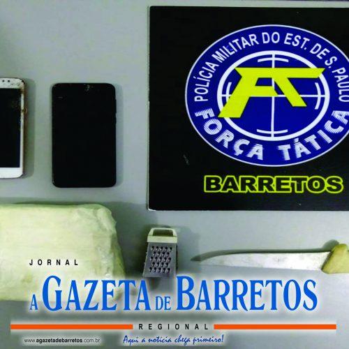 BARRETOS: Fugitivo da cadeia de Bauru é preso com mais de meio quilo de pasta base de cocaína
