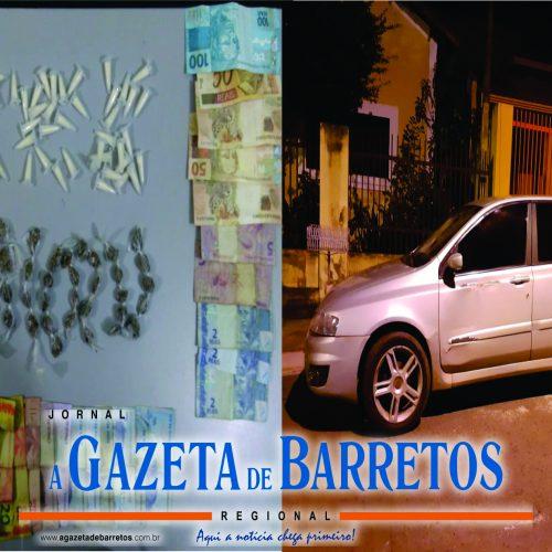 BARRETOS: Operação policial prende servente, apreende outras pessoas, drogas, dinheiro e carro no Barretos II