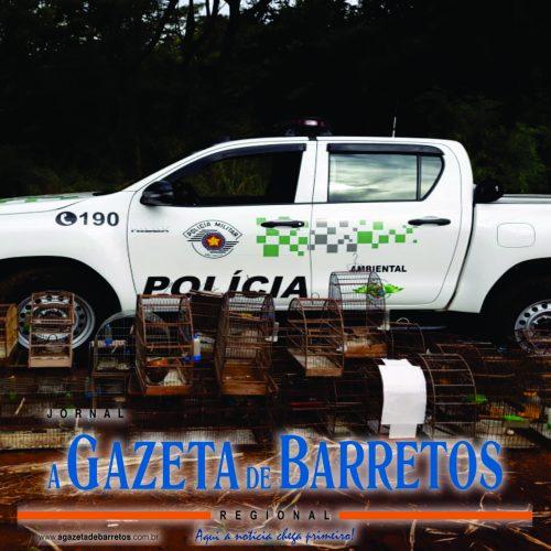 Polícia Ambiental apreende aves e aplica 110 mil reais em multas