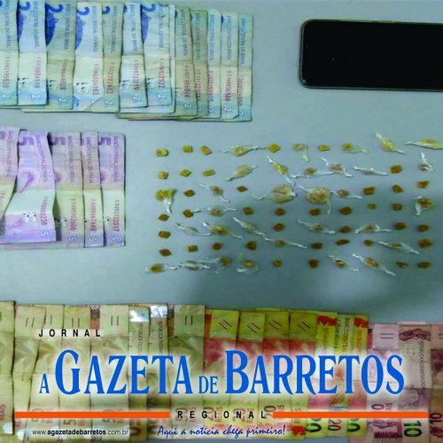 BARRETOS: Comerciante é preso por vender drogas em seu bar no bairro Santa Cecília