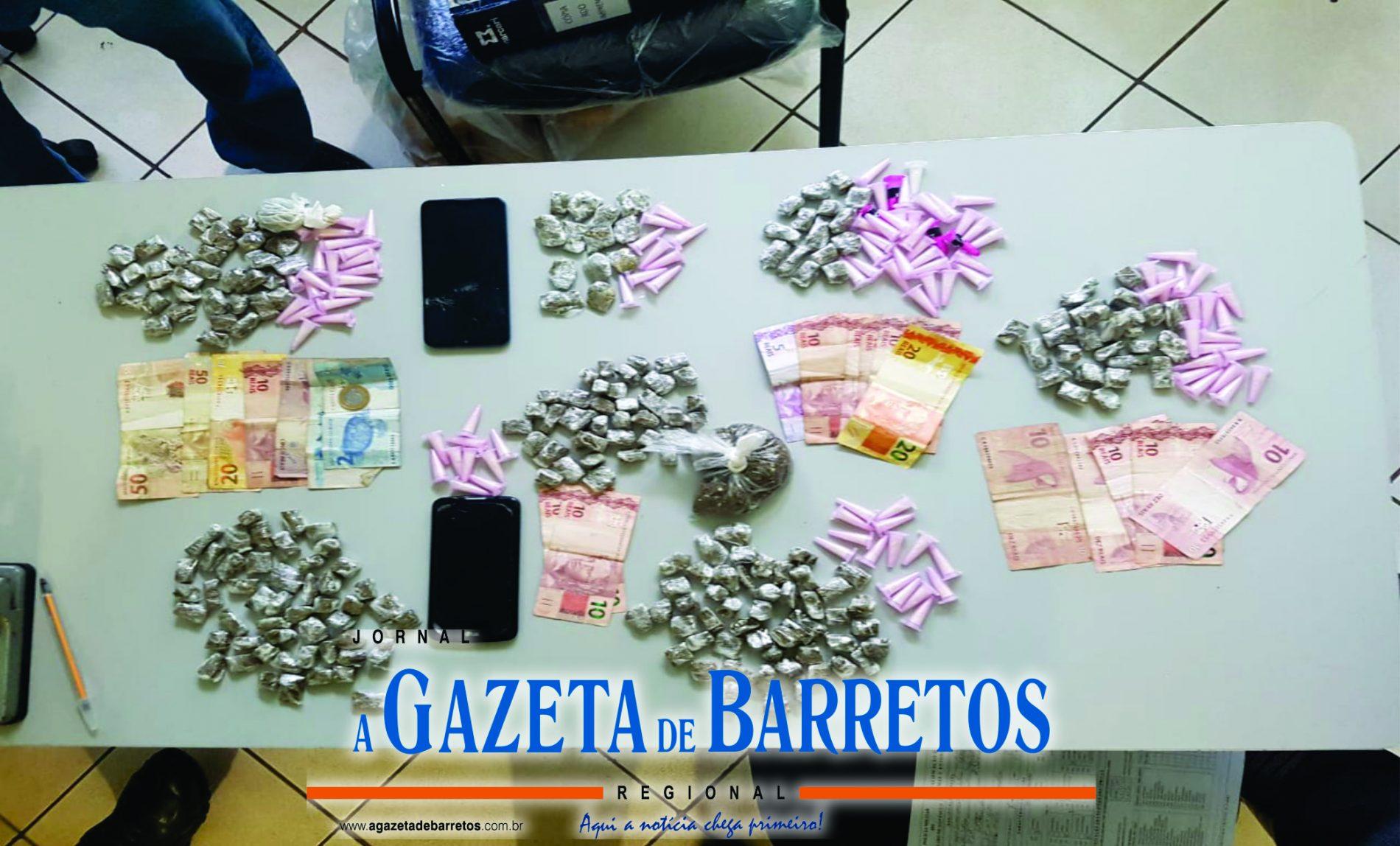 BARRETOS: Operação Policial prende maiores, apreende menores, cocaína, maconha e dinheiro no Newton Siqueira Sopa