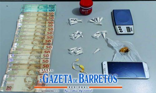 BARRETOS: Homem é preso e menores são apreendidos com drogas e dinheiro no bairro Santa Cecília