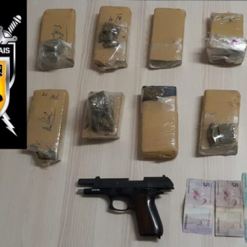 REGIÃO: Homem é preso com maconha e revólver dentro de mochila infantil