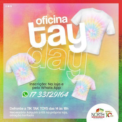 BARRETOS: Oficina de Tie-Dye abre mês das crianças no North Shopping