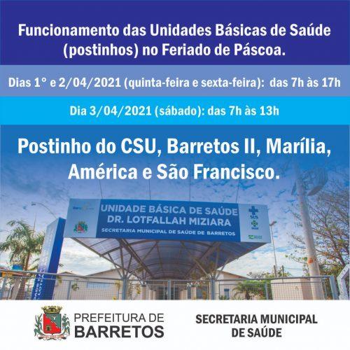 BARRETOS: Prefeita Paula Lemos edita decreto municipal nº 10.958/2021 e permitirá o funcionamento de postinhos no feriado