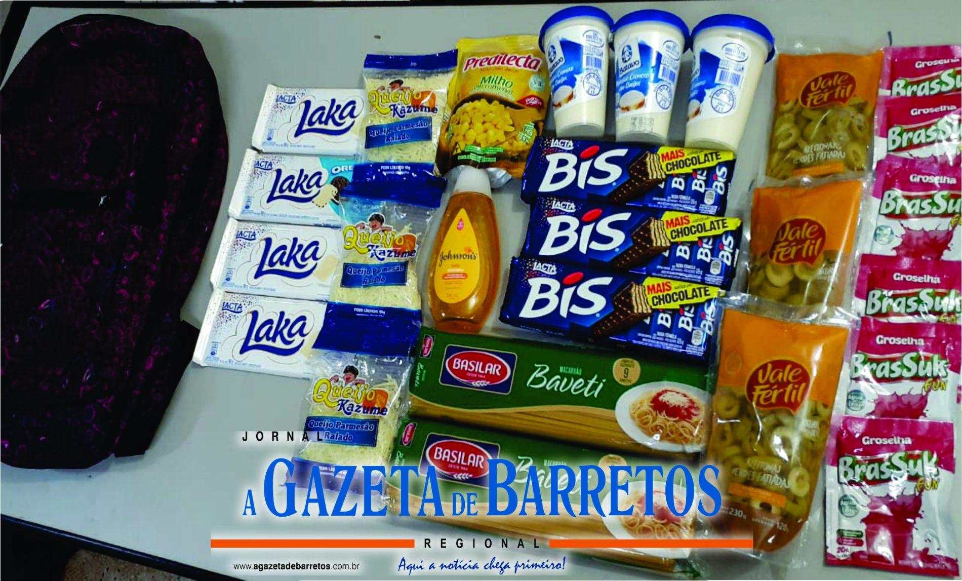 BARRETOS: Estudante é presa furtando gêneros alimentícios em supermercado