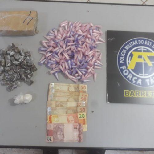 BARRETOS: Polícia Militar apreende menor com um quilo de drogas