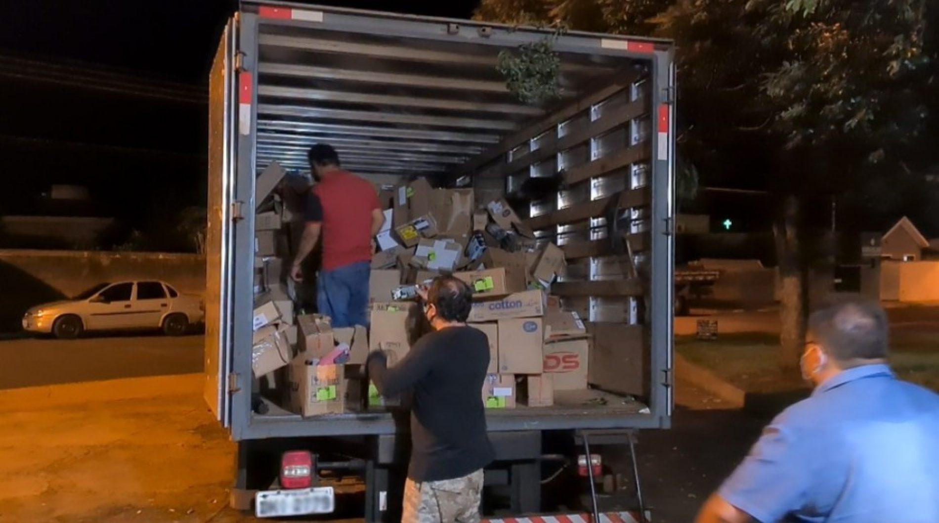 VIRADOURO: Polícia recupera testes da Covid e remédios levados em roubo de carga avaliada em R$ 471 mil